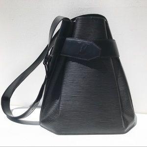 LOUIS VUITTON Black Epi Depaule Bag Purse